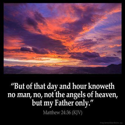 Image result for Matthew 24:35-36 kjv