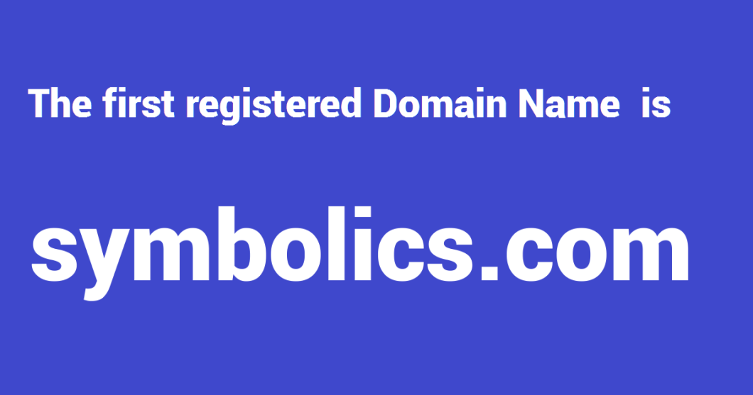 First Domain on Internet