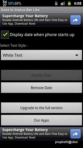 Show Date in Android Mobile Status Bar