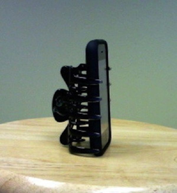 Smartphone Stand from Hair Clip