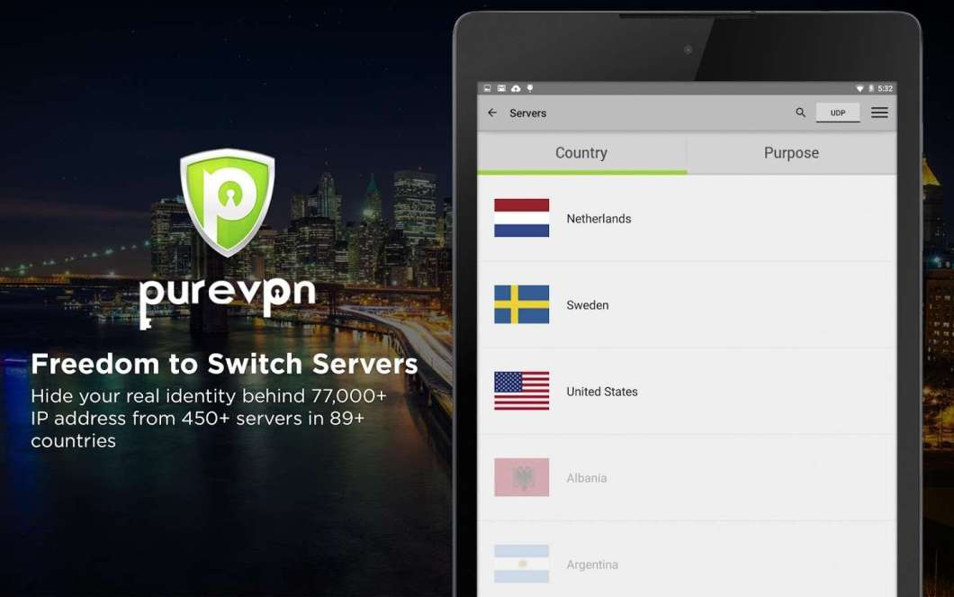 PureVPN for Bypass Country Restricted Apps
