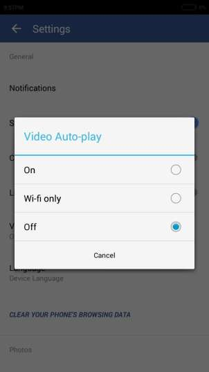 Stop Video Autoplay in Facebook App