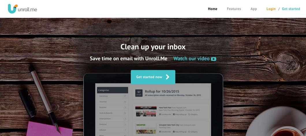 Unroll.me for Unsubcribing Annoying Emails