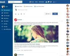 Facebook Flat Chrome Extension