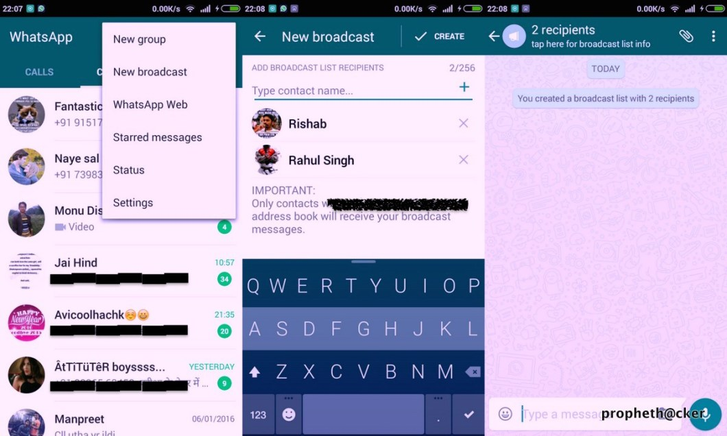 How to Send Whatsapp Message to All Contact