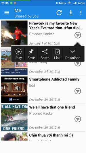 Download Facebook Video in Android Mobile from MyVideoDownloader
