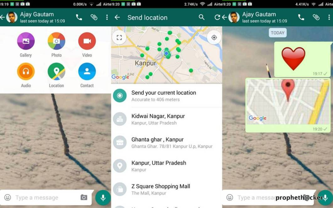 Share Your Location With Your Whatsapp Friend