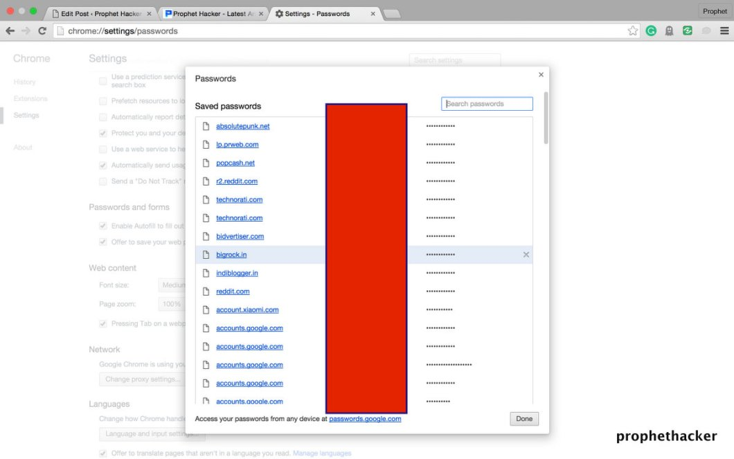 See Saved Password in Google Chrome