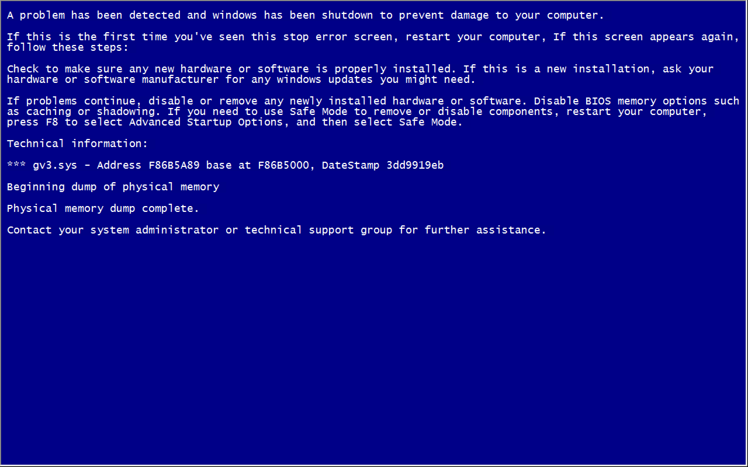 How To Create Fake Blue Screen Of Death In Your Window Computer