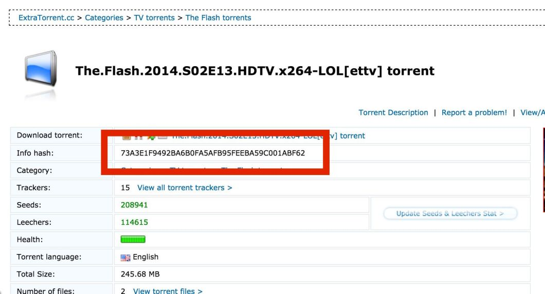 Copy Torrent Hash from Torrent Websites