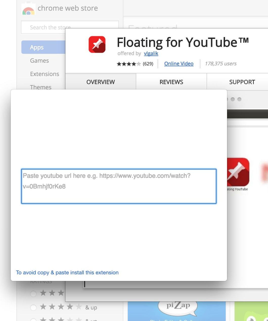 Floating Youtube Extension