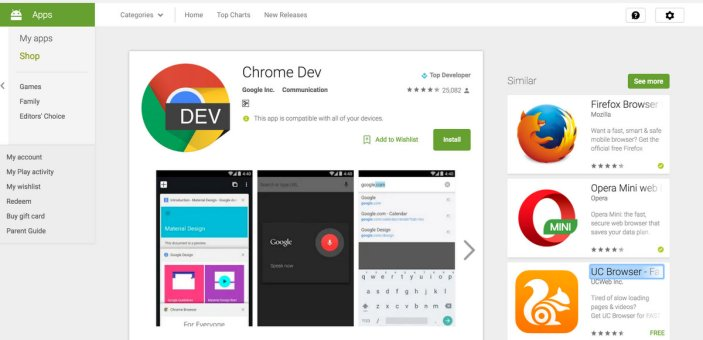 Install android app from Computer in Mobile