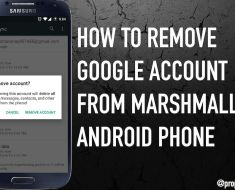 How to Remove Google Account in Marshmallow 6.0