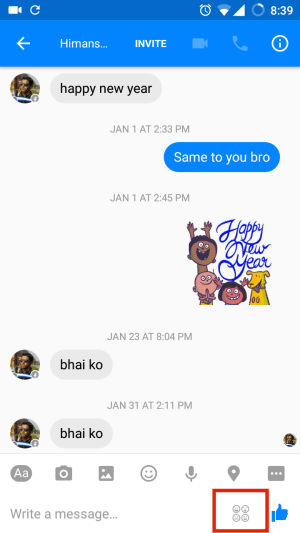 Facebook Messenger Conversation Chat