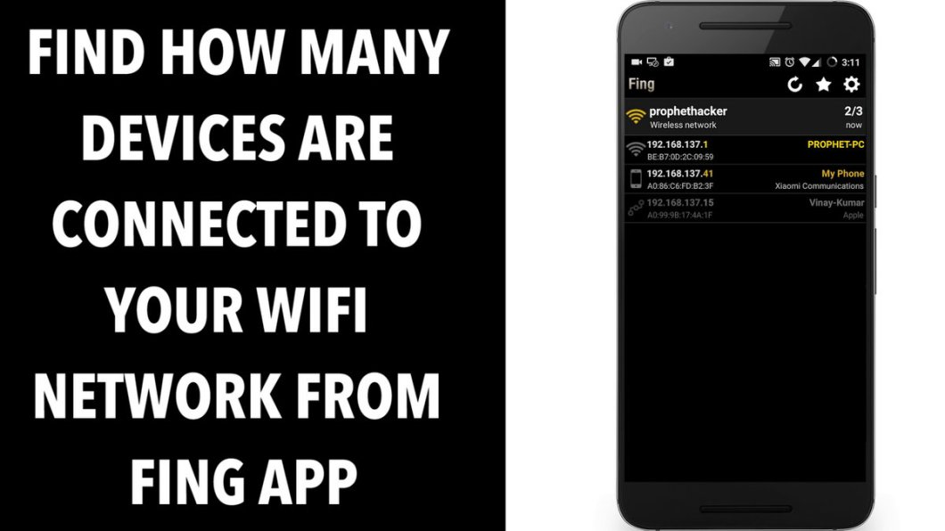 Find How Many devices are connected to your WIFi Network from Fing App
