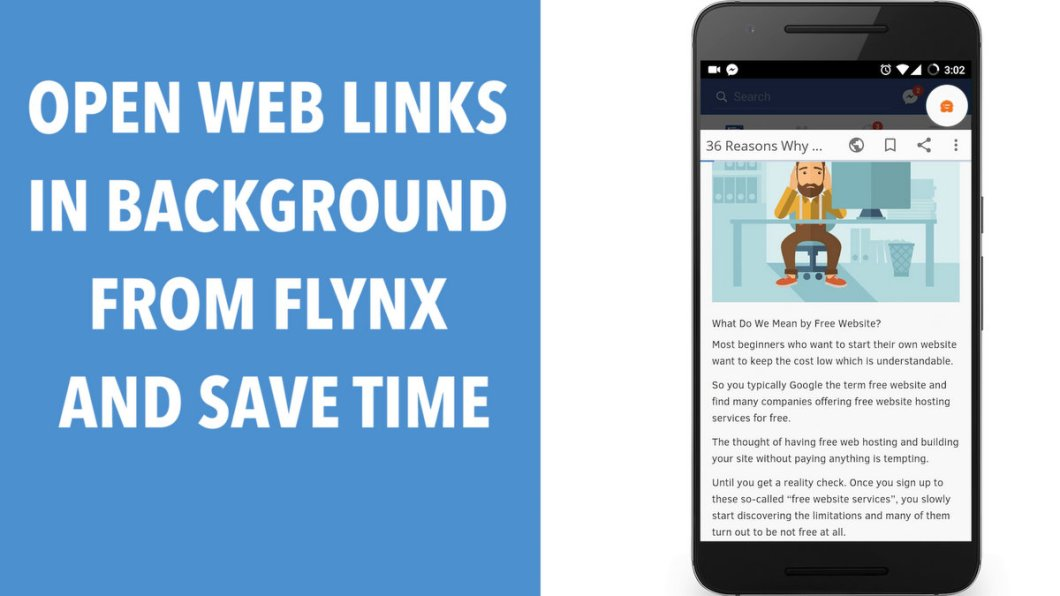 Open Web Links in Background from Flynx