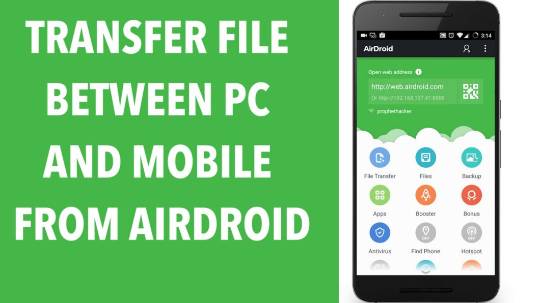 Transfer File Between PC and Android Mobile from Airdroid