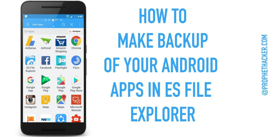 How to Make Backup of Android Apps in ES File Explorer