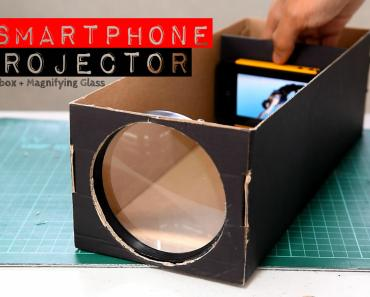 How To Make Your DIY Smartphone Projector With A Shoebox