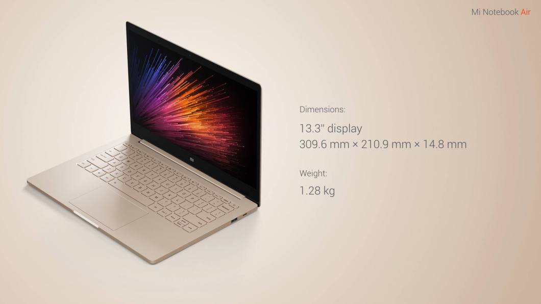 Mi Notebook Air Features