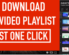 How to Download Whole Youtube Videos Playlist in Just One Click