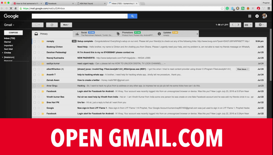 Open Gmail.com in your Computer
