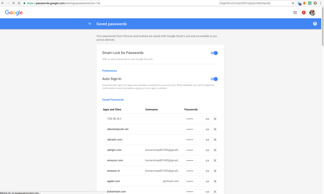 See all Chrome Saved Passwords