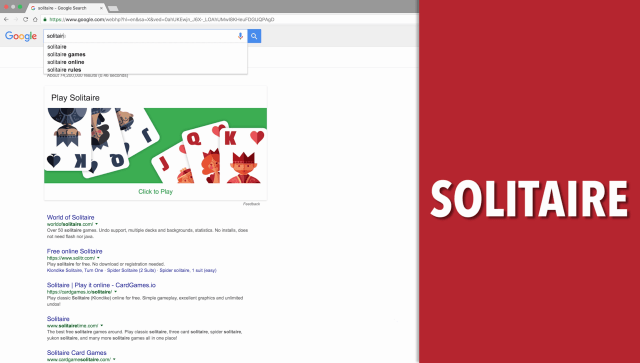 Solitaire Google Search Game