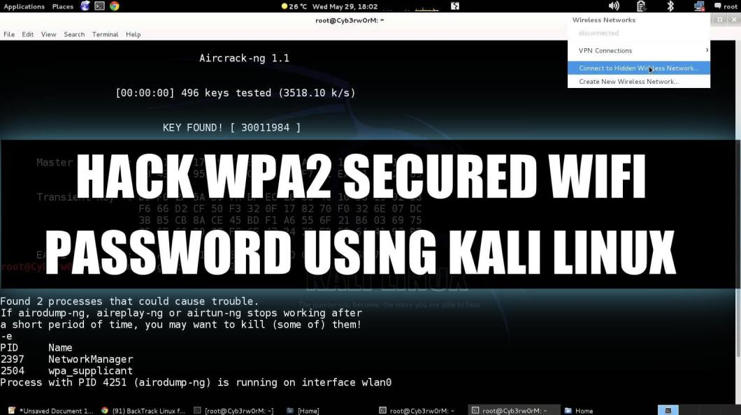 How To Hack WPA2-PSK Secured Wi-Fi Password Using Kali Linux