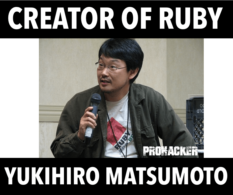 Creator of Ruby