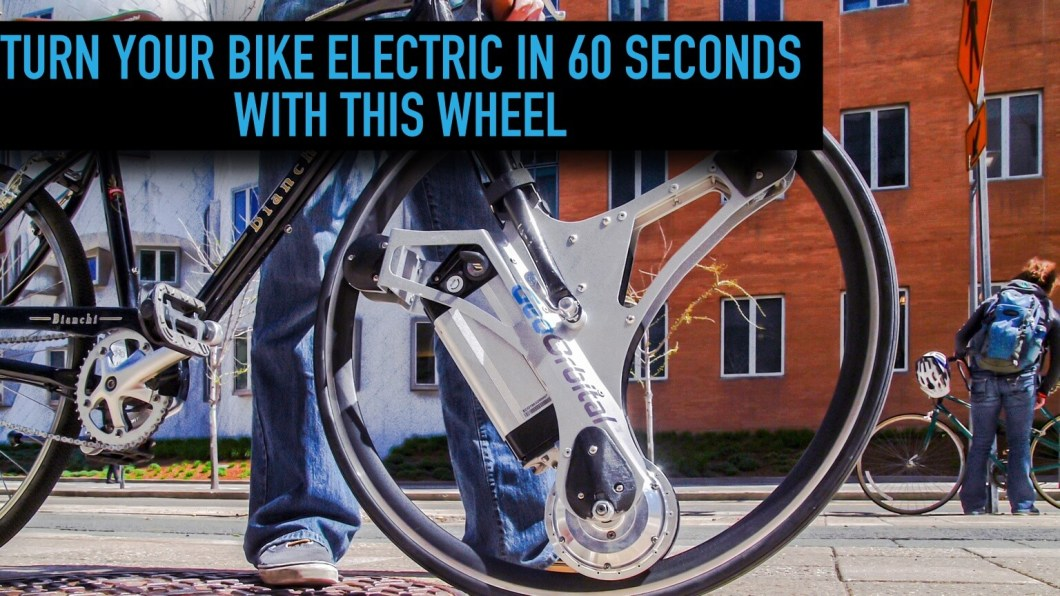 This Wheel Turns Any Bike Into An Electric Vehicle In Just 60 Seconds