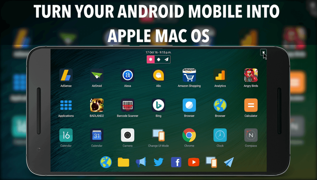 This android app turn your Android Phone into a Working Apple Mac OS