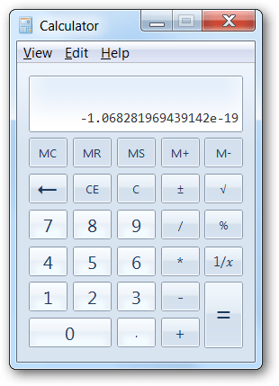 Bug in Windows calculator