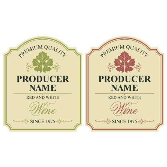 Labels for Wines