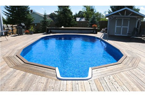 Ultimate 15' x 24' Oval InGround Pool Kit Walk-In Steps