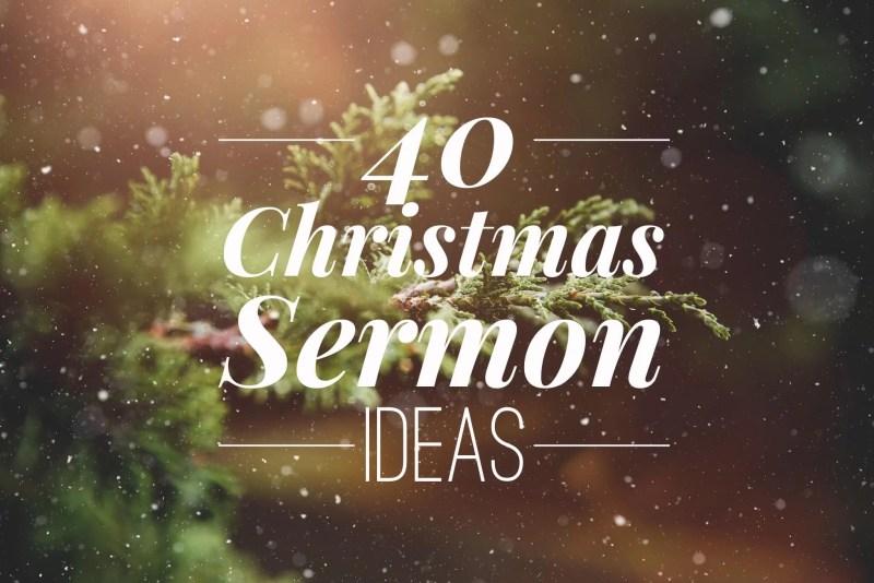 christmas sermon ideas - Christmas Eve Sermon
