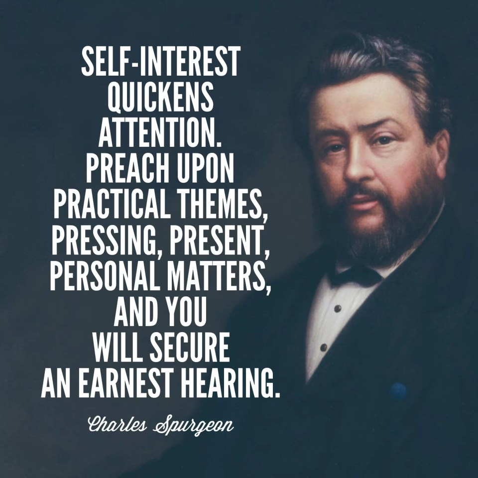 Charles Spurgeon on preaching
