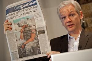 Julian Assange Iraq War Logs Guardian WikiLeaks