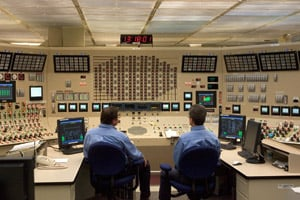 Employees work in the control room at Browns Ferry Nuclear Plant in Athens, Ala., on June 21, 2007. The plant reopened after a devastating fire in 1975 had shut it down. (Saul Loeb/AFP/Getty Images)