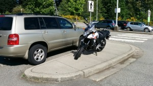 Motorcycle Parking Don't
