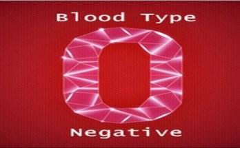 O Negative Blood Type