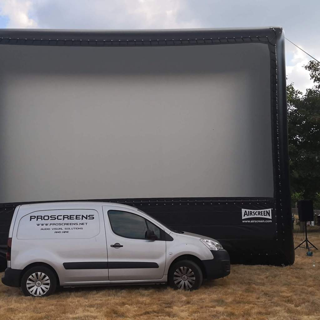 inflatable screen hire