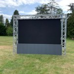 SCreen hire for outdoor Cinema
