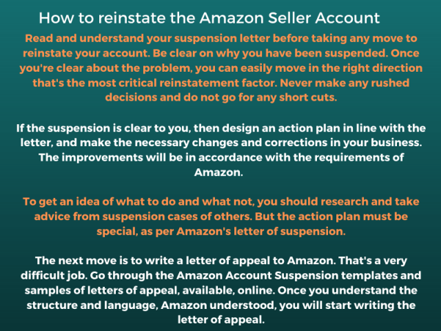 reinstate amazon seller account