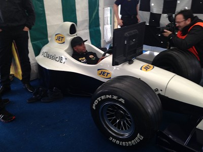 Nick Hamilton F1 driver in our car