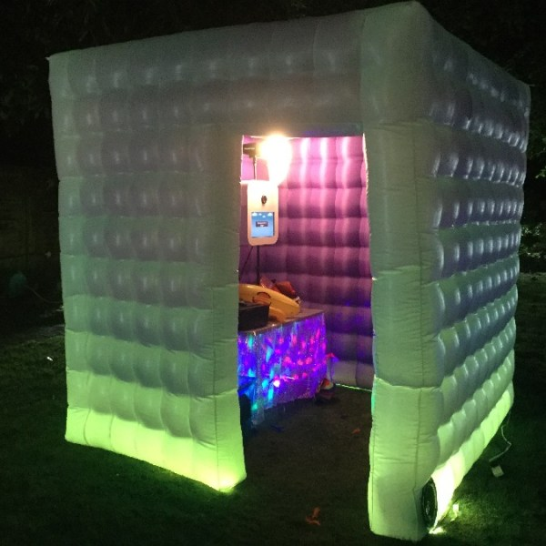 Light Green lit Phone Booth Hire