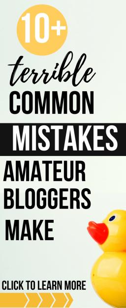 10+ common mistakes amateur bloggers make