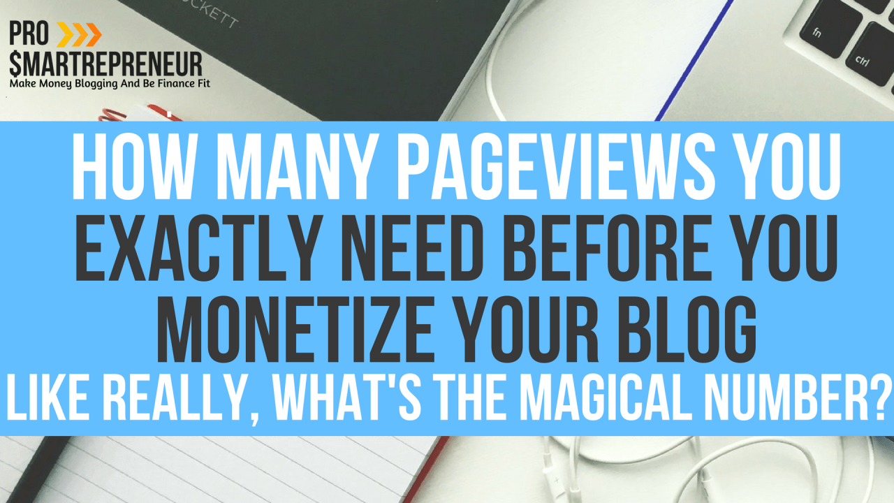 How Many Pageviews You Exactly Need Before You Monetize Your Blog