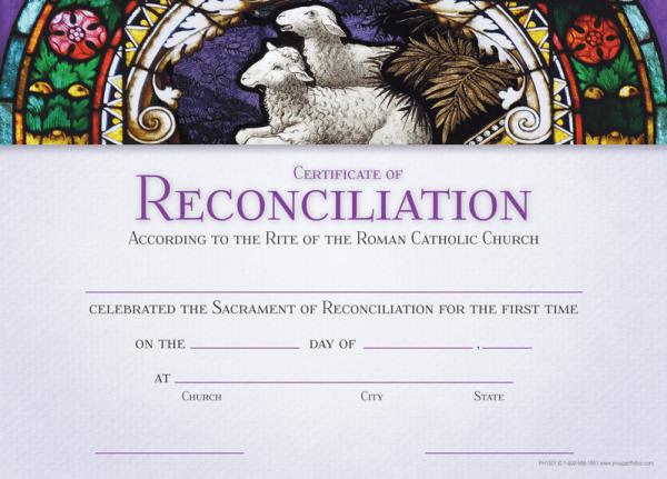Reconciliation Certificate Prospect Hill Company