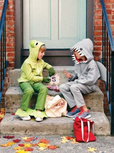 Friendly Frog: Simple craft foam shoe covers and oversize eyes transform your child into a prince of an amphibian. Shocking Shark: Wearing a hoodie with face-framing teeth and a standing dorsal fin, your child will love swimming house to house in search of his favorite prey (fun-size candy bars). (Emmet Malmstrom/Family Fun Magazine/MCT)